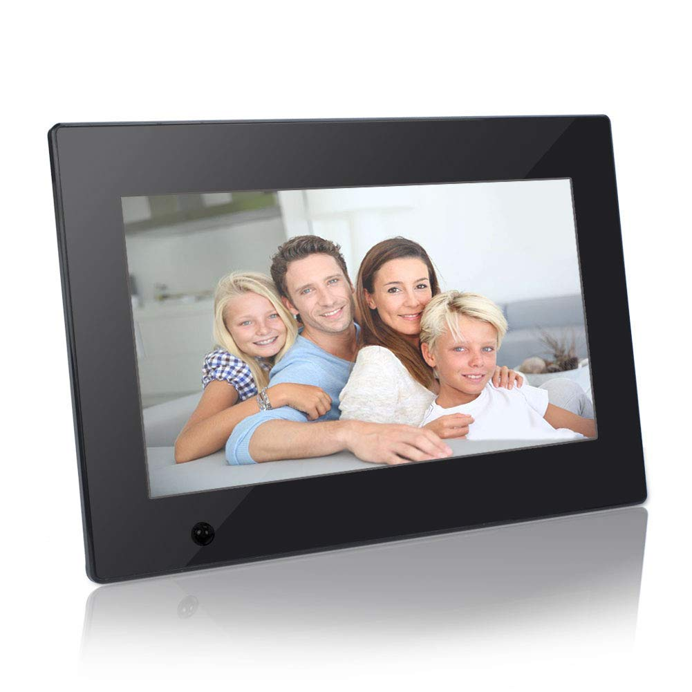 Digital Photo Frame, Jimwey 10 inch Electronic Picture Frame with Motion Sensor and HD IPS LCD Displ